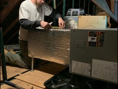 Attic HVAC Installation