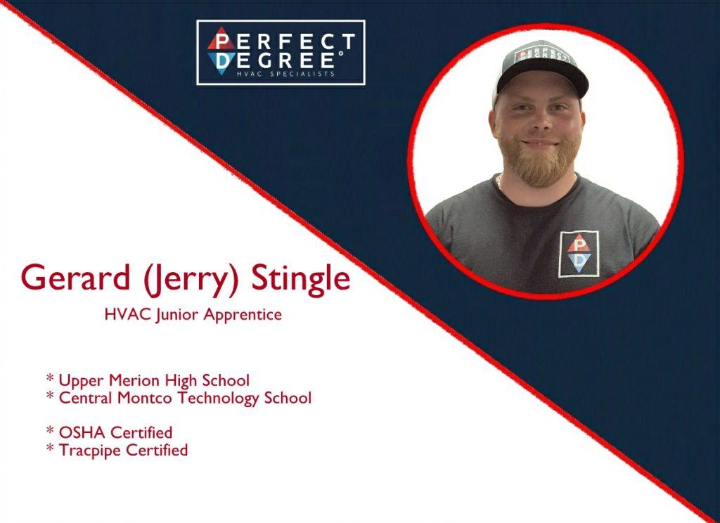 Gerard Stingle - HVAC Junior Apprentice